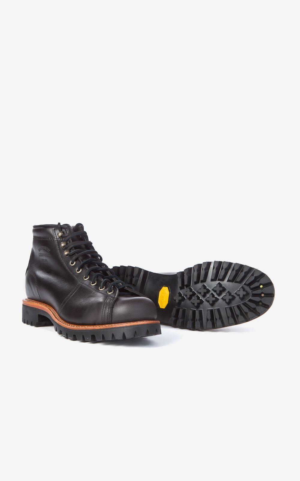 """Chippewa 5"""" Lace-To-Toe Boot Black Whirlwind"""