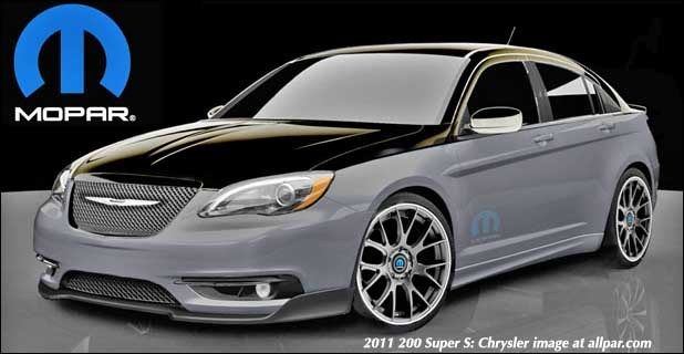 2011 Chrysler 200 Super Chrysler 200 Mopar Detroit Auto Show