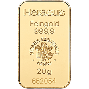 Heraeus Gold Bar 20 G 20 Gram Gold Bar Manufactured By Heraeus Each Gold Bar Is Extruded And Laminated Gold Coin Values American Eagle Gold Coin Gold Bar