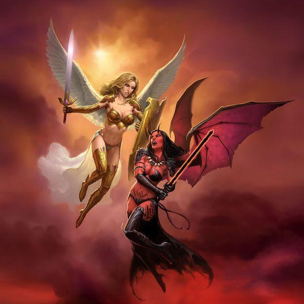 Pin En Angeles Y Demonios