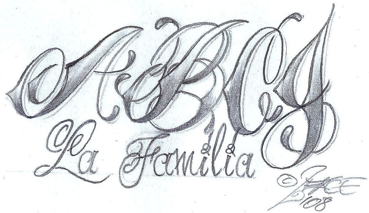 calligraphy styles chicano style lettering design by facetattoo on deviantart 5275