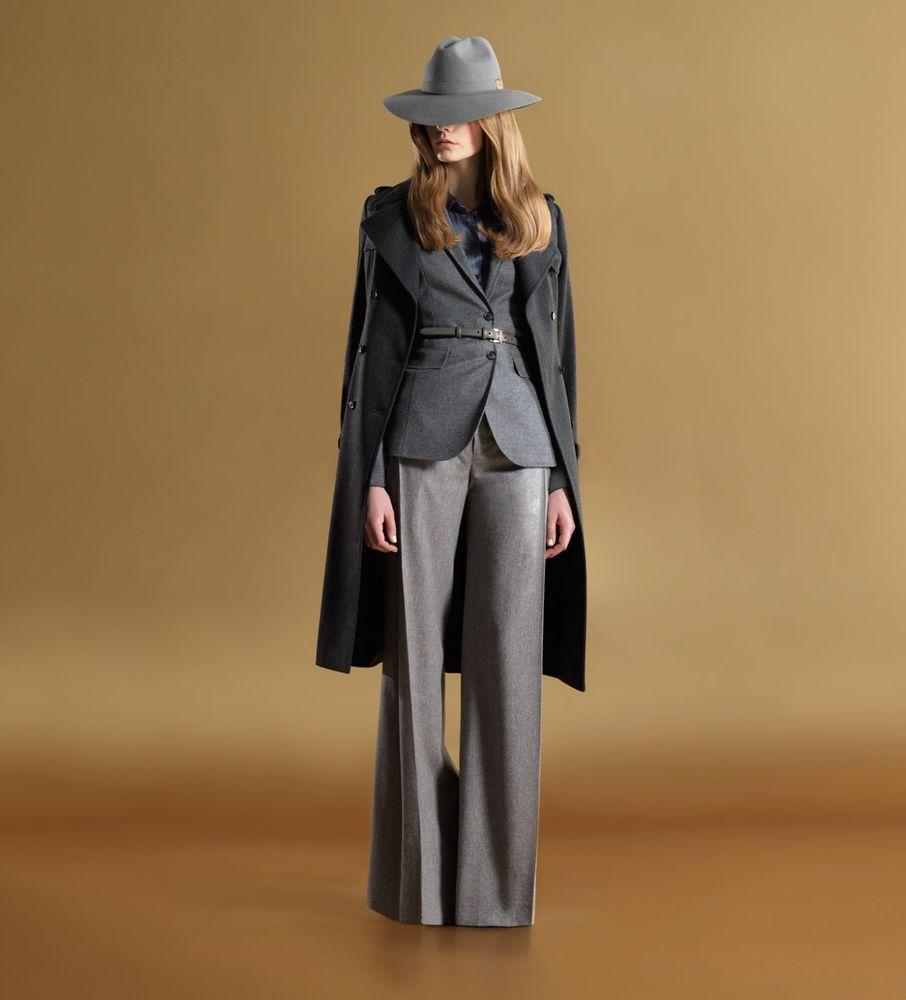 Faszinierend Business Mode Damen Foto Von Authentisch Gucci Runway Wolle/kaschmir-jacke Mantel Blazer 40