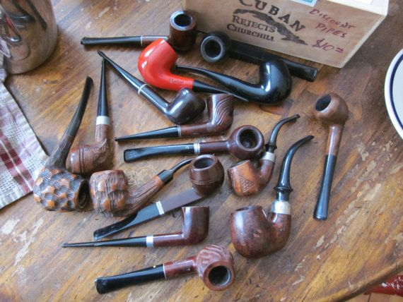 Jake's Seconds Briar Pipe with Flaw Fully by pipesbyjake on Etsy