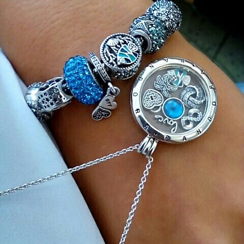 Pandora - blue - fish - shell.... IN LOVE
