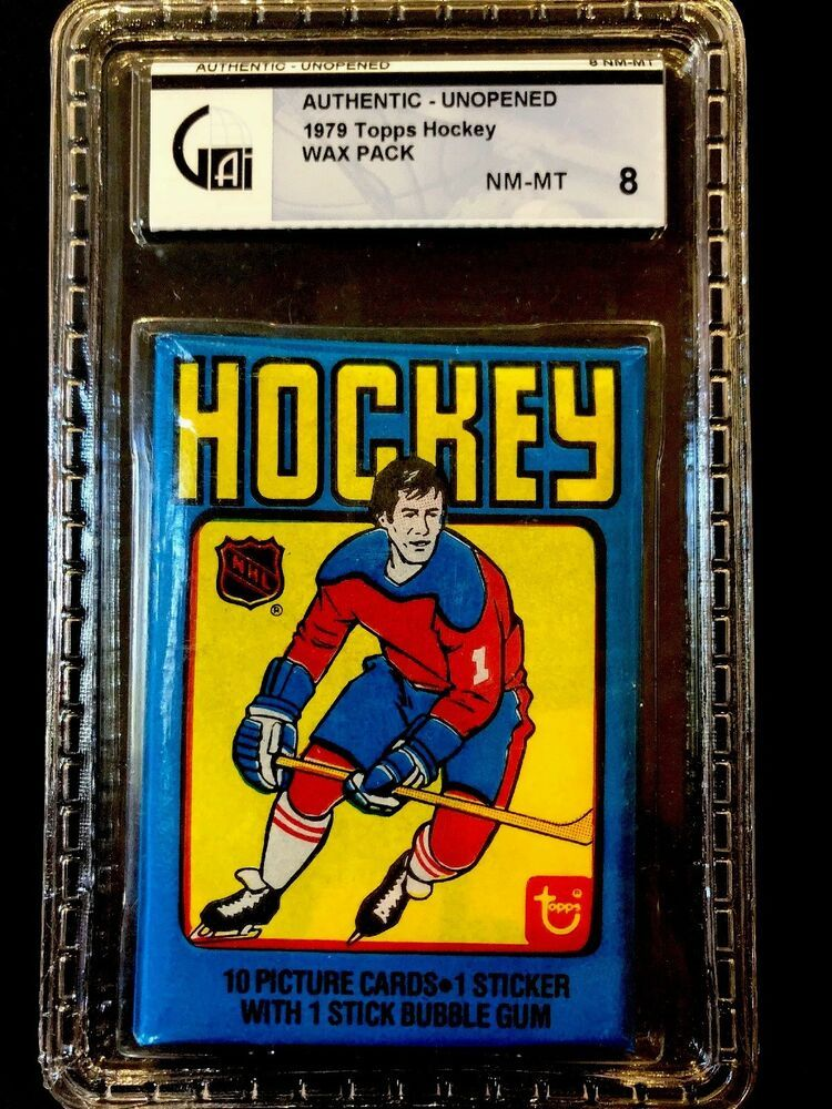 1979 topps wax pack cards gai 8 authentic unopened poss
