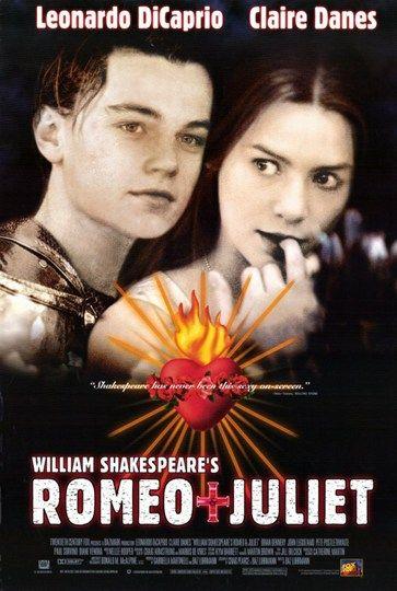 MOVIE POSTER~Leonardo DiCaprio Romeo /& AND Juliet Claire Danes Shakespeare 1996~