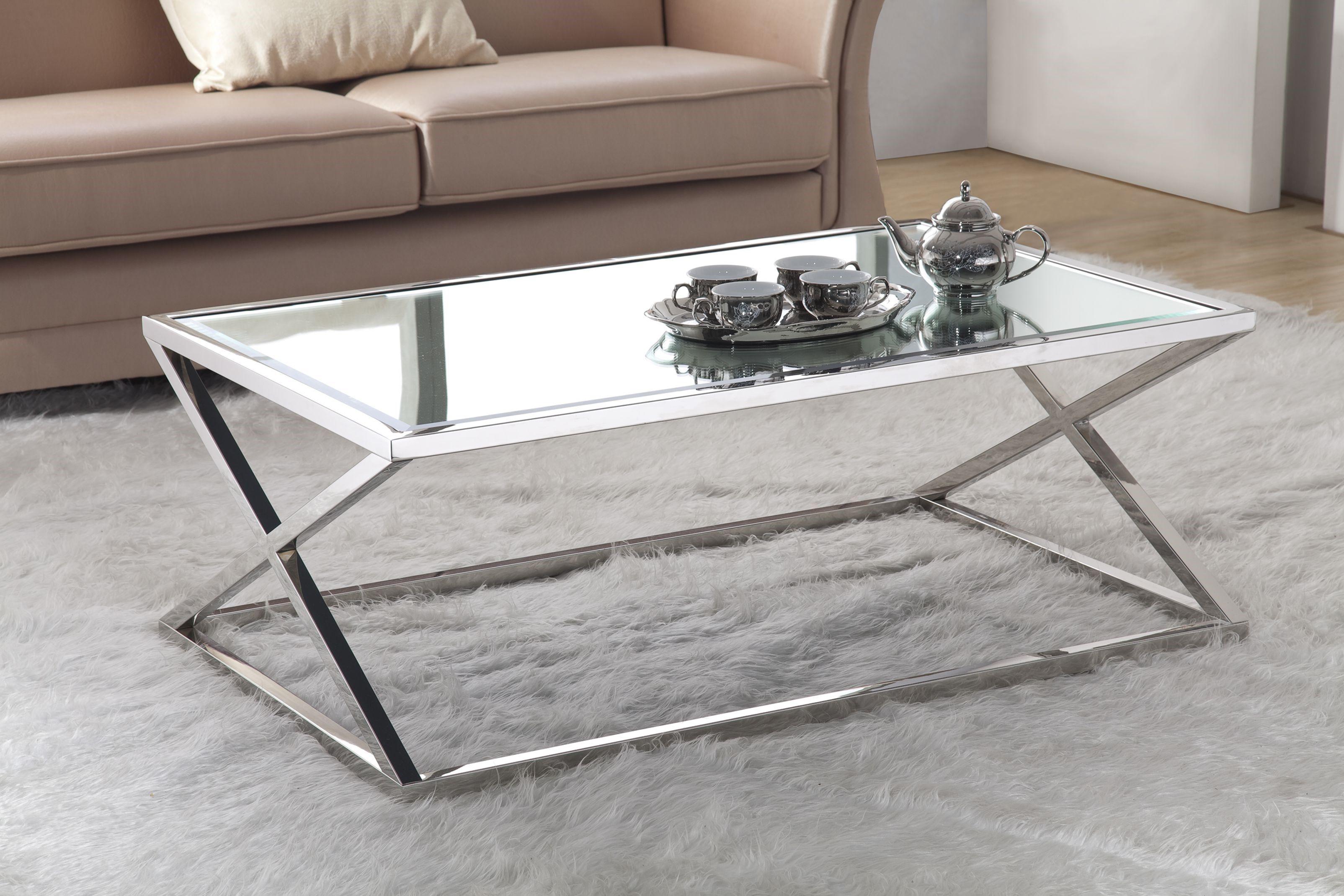 Attractive Silver Coffee Table Decorations Mesa De Acero Inoxidable Muebles De Acero Inoxidable Muebles De Metal