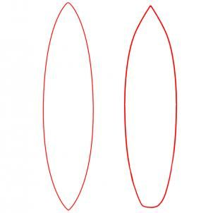 How To Draw A Surfboard Draw Surfboards Step 3 Surfboard Drawing Surfboard Drawings