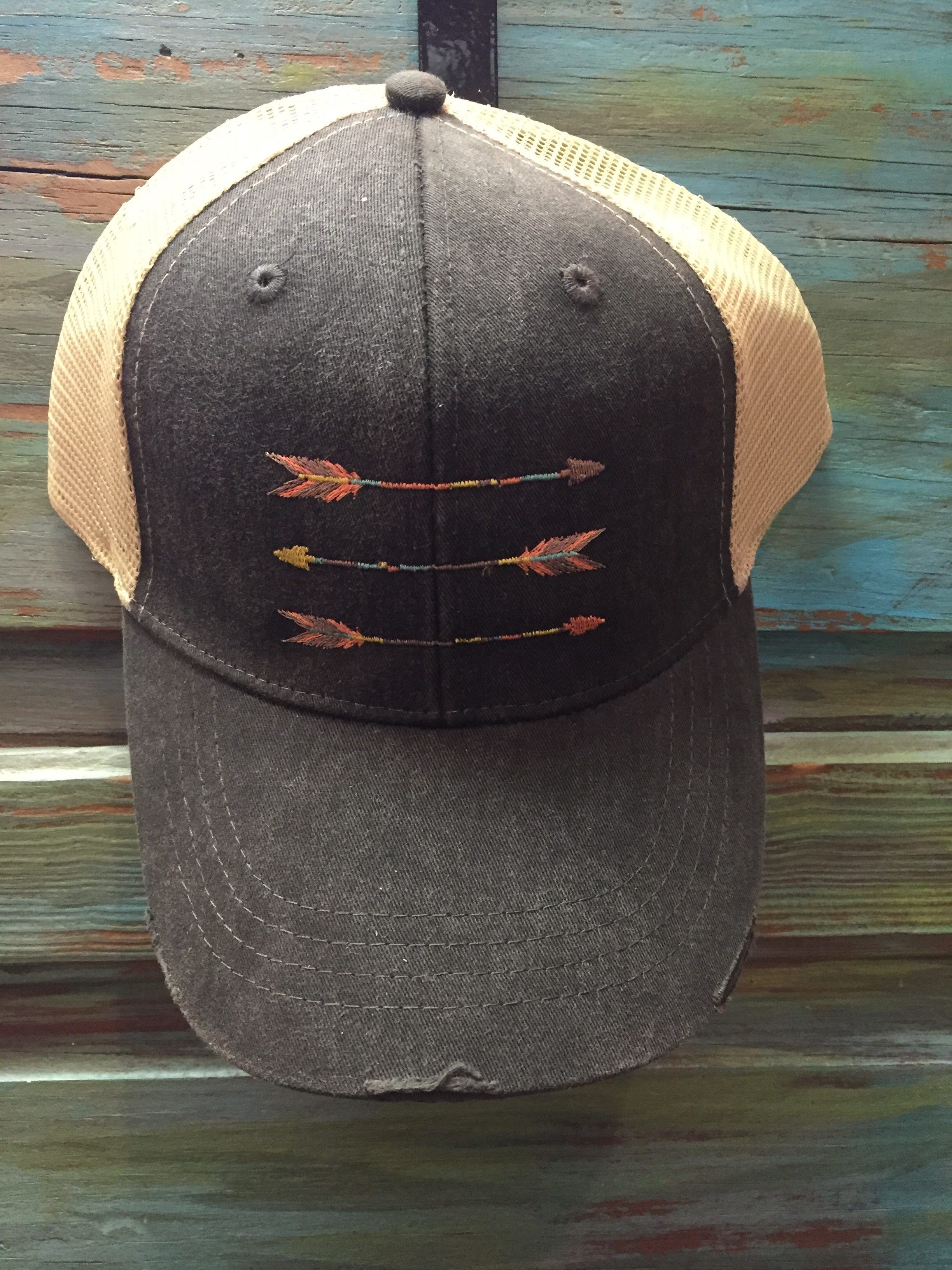 Embroidered Distressed Trucker Hats 8c2390fbae10