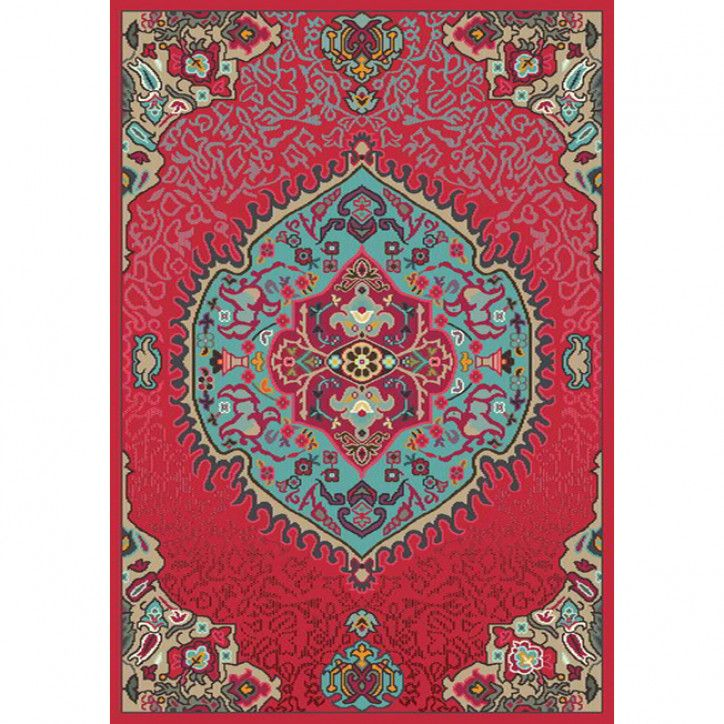 Colores pink medallion traditional rug rugs traditional