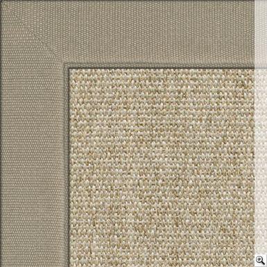 Sisal Linen Silver Rug Border Cotton Chenille Oatmeal