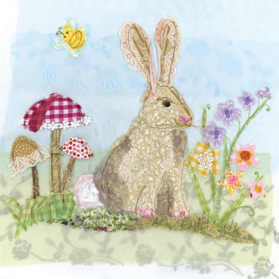 PR70 Rabbit - Limited Edition Prints from Abigail Mill Embroidery