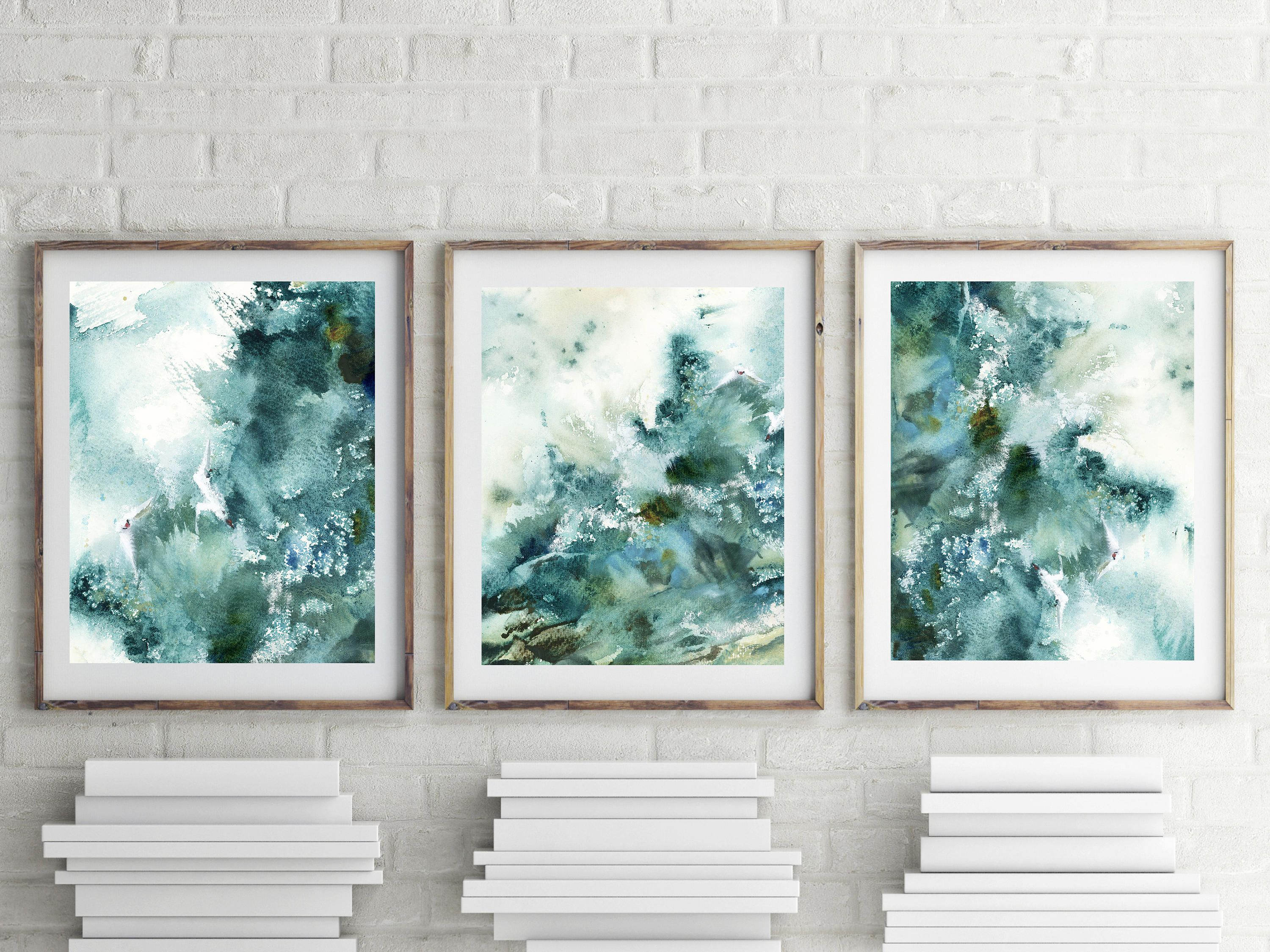 Abstract Nautical Prints Set 3 Fine Art Prints Abstract Seascape
