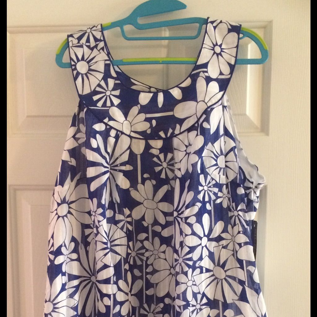 Dress sz 20 blue and white flowers white flowers and products dress sz 20 blue and white flowers izmirmasajfo