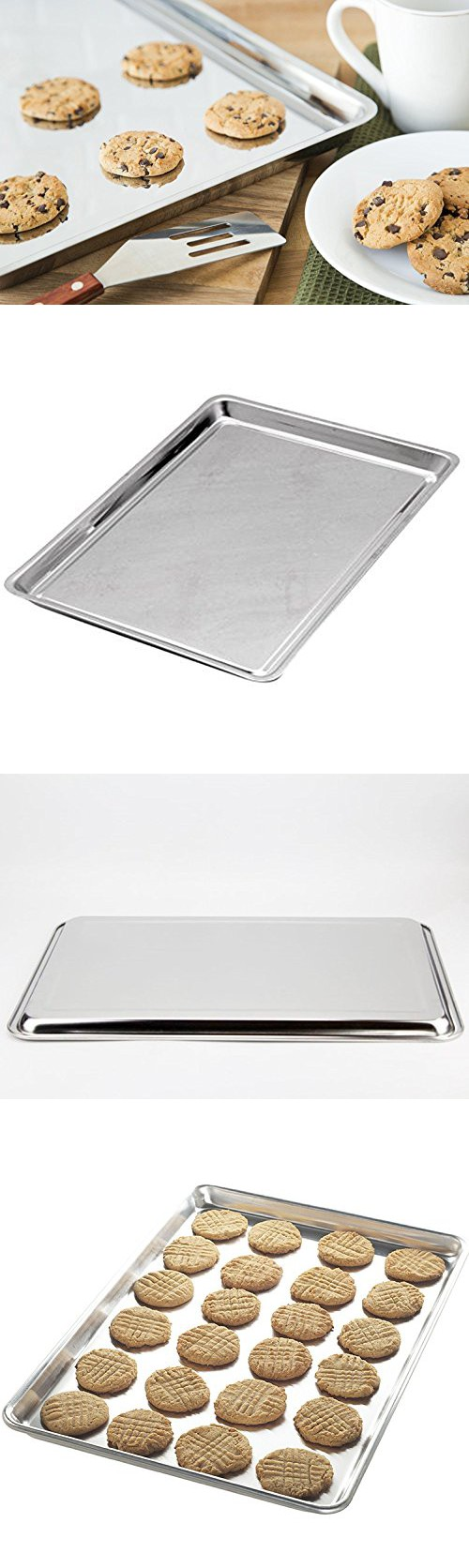 Intbuying Bakeware Cookie Pan Stainless Steel 14 Inch X 10 Inch Jelly Roll Baking Pan Item 249173 Baking Pans Baking Cookie Sheets Baking