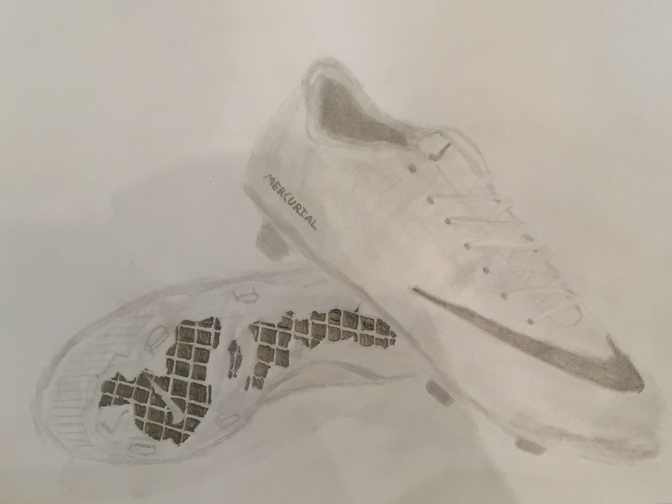 Soccer Cleats Sketch Soccer Cleats White Sneaker Art Class