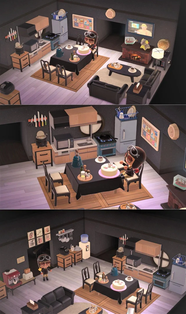 "Animal Crossing New Horizons on Instagram: ""Modern living ... on Animal Crossing New Horizons Living Room  id=85283"