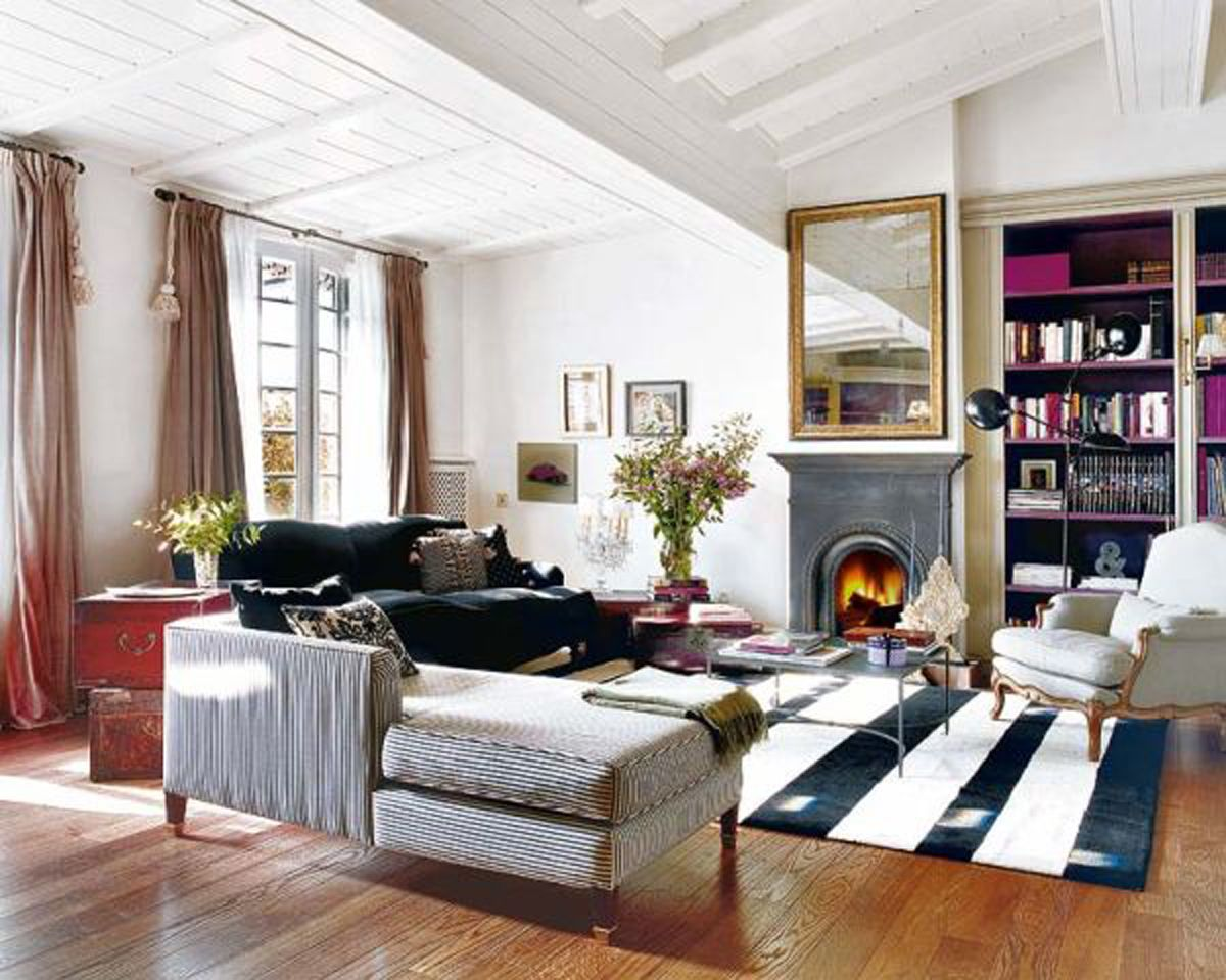 French Ethnic Style Apartment Ideas, Charming Design In Barcelona Living  Rooms