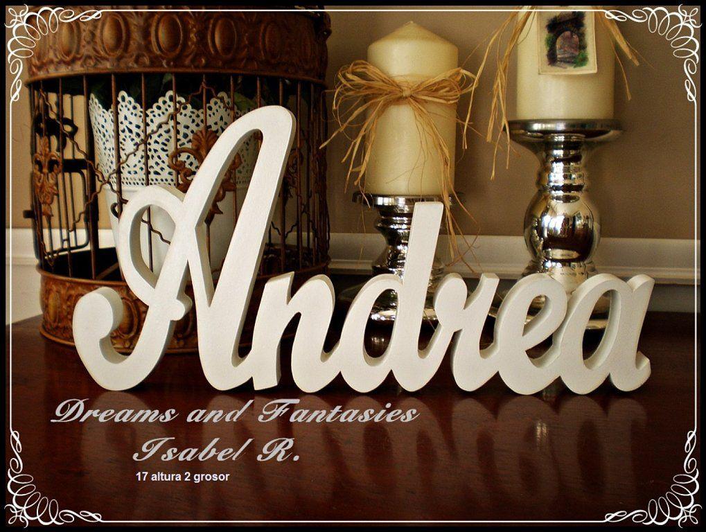 Letras en madera personalizadas decoracion - Casa letras madera ...
