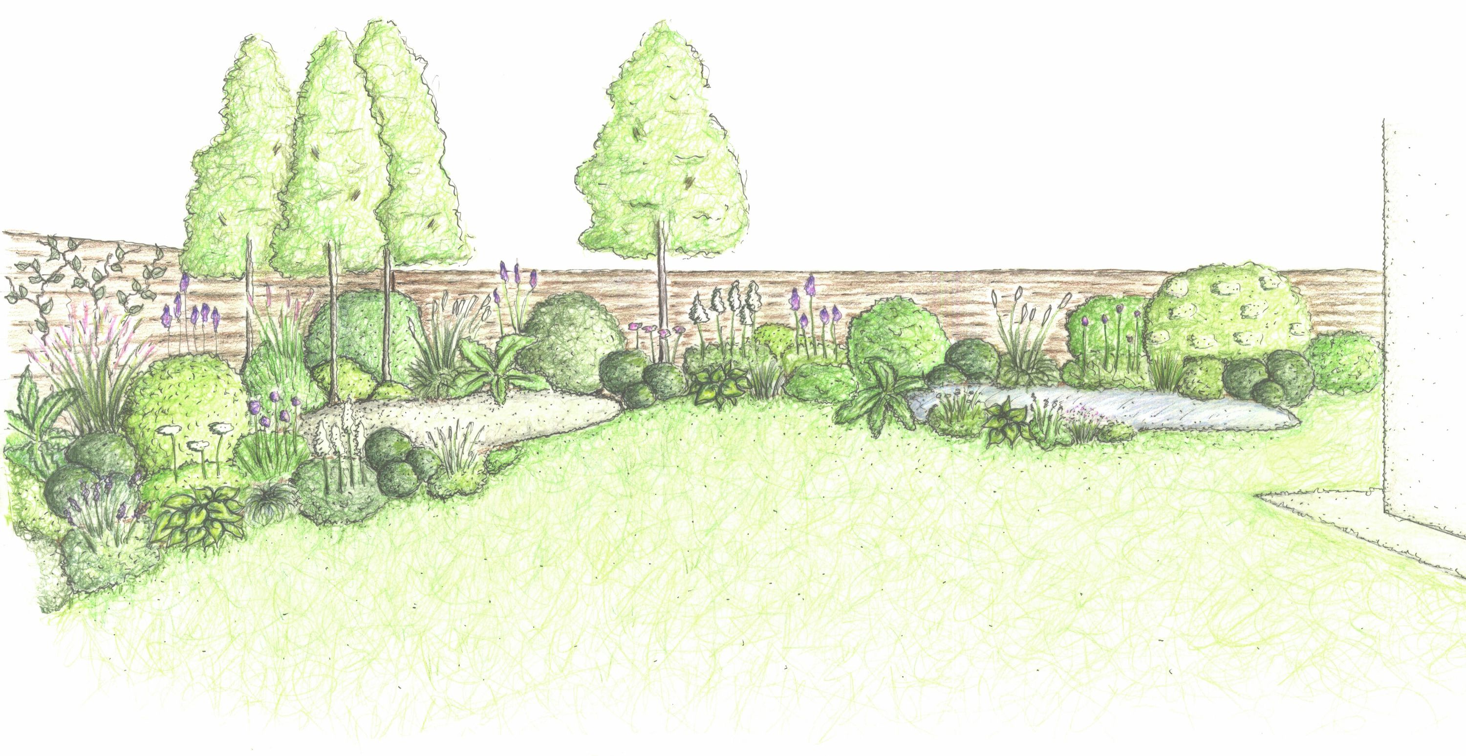 north yorkshire front garden by coucou design patio pond green