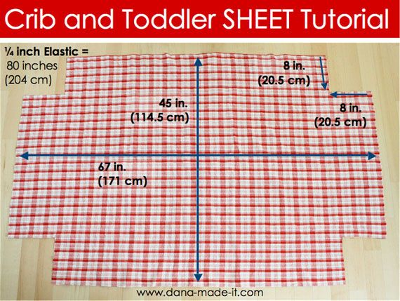 Crib Sheets Tutorial Store Bought Ones Always Seem To Shrink