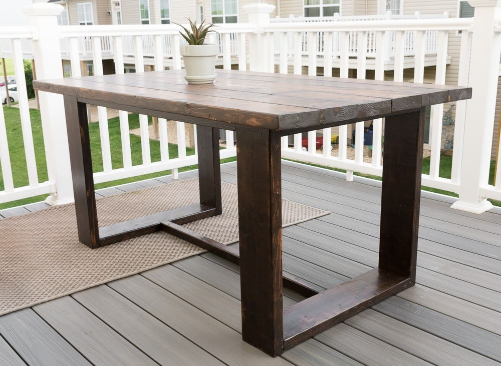 Build your own outdoor dining table outdoor wood dining