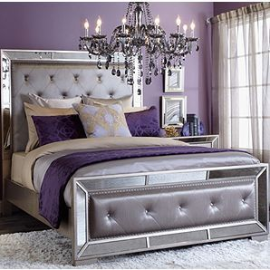 Z Gallerie Ava King Bed 1499 Silver Bedroom Purple