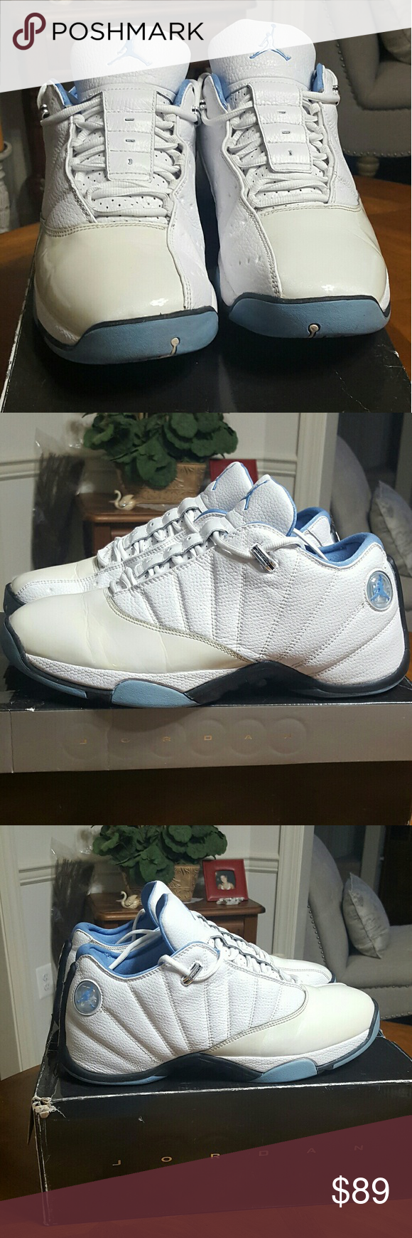 e4ec6d134ba9af EUC Air Jordan 12.5 Team Low shoes size 13 Great used condition White - university  blue - black 2008 release Clean without scuff marks Only ome very tiny ...