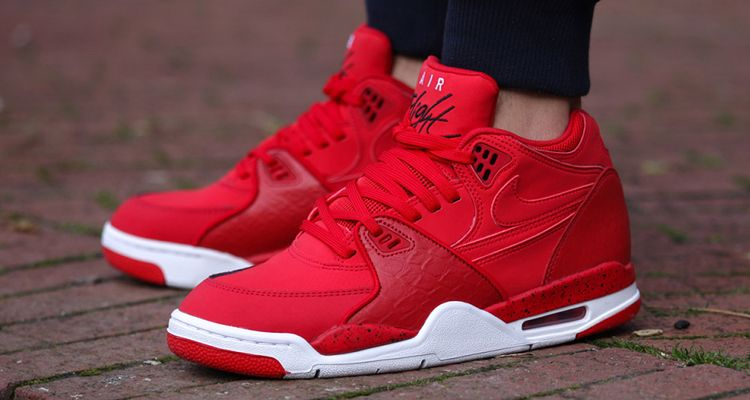 """Nike continues to capitalize on the reigning sneaker trend of the past last  year through the release of the """"University Red"""" Nike Air Flight The high  top ..."""