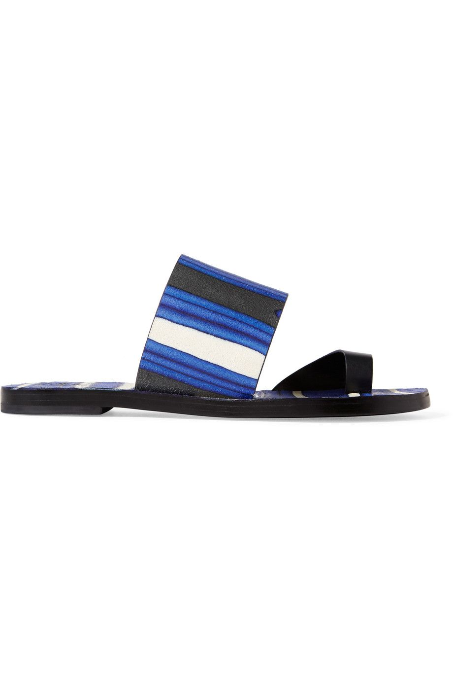 TORY BURCH Kempner Printed Leather Sandals. #toryburch #shoes #sandals