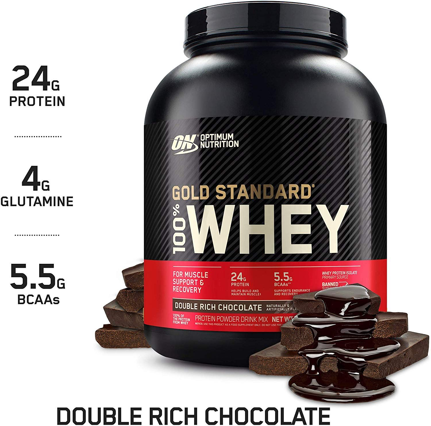 Optimum Nutrition Gold Standard 100 Whey Protein Powder Double Rich Chocolate 5 Pound In 2020 Best Protein Powder Gold Standard Whey Protein Optimum Nutrition Whey