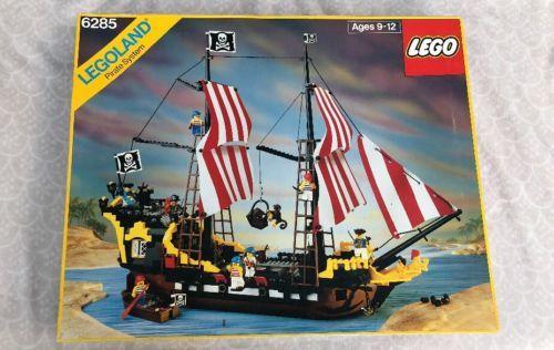 Lego Pirates Black Seas Barracuda 6285 Pirate Ship Original Box