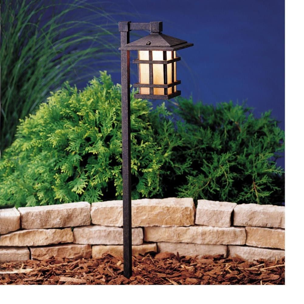 Cross Creek Arts and Crafts Style Lantern Path and Spread Light