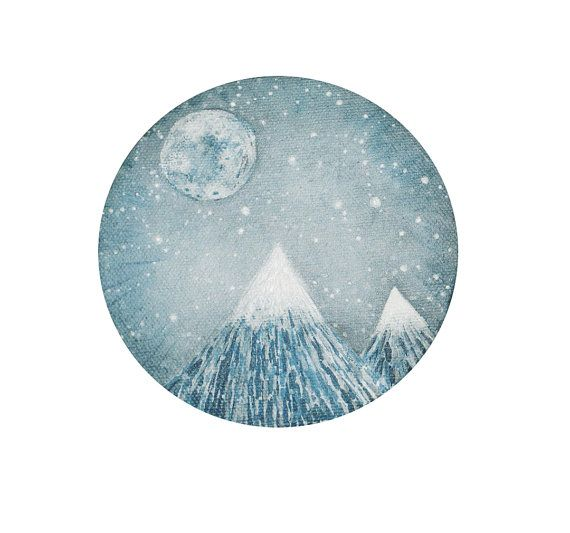 Light of the Full Moon print par elisemahanfineart sur Etsy