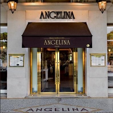 Angelina Cafe in Paris, famous for its hot chocolate.