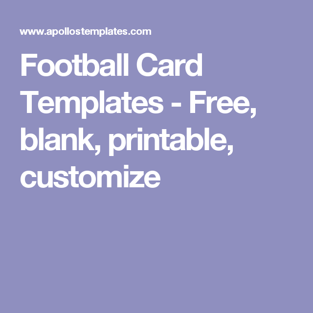 football card templates free blank printable customize