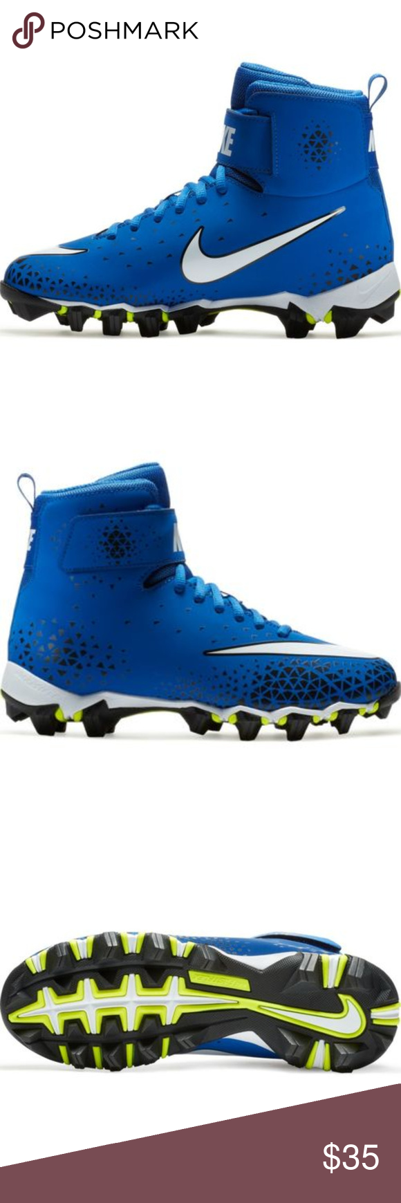 2870fb5b9db9 Nike Boys Force Savage Shark BG Football Cleat 6Y High top with ankle strap  for support and stability. New in box. Size 6 Y grade school boys. Nike  Shoes