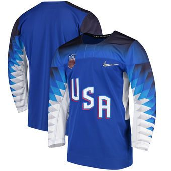 9c9dd5c88 US Hockey Nike 2018 Winter Olympics Replica Jersey - Royal | Team ...
