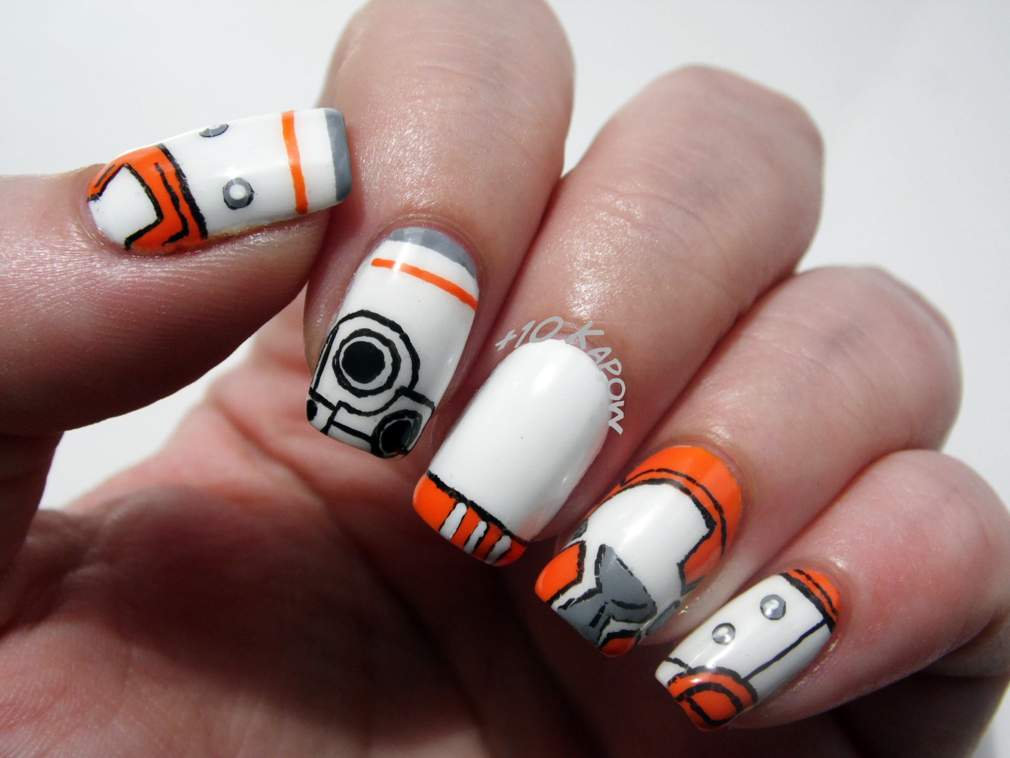 Star Wars BB-8 ball droid nails for this years Star Wars Day. May ...
