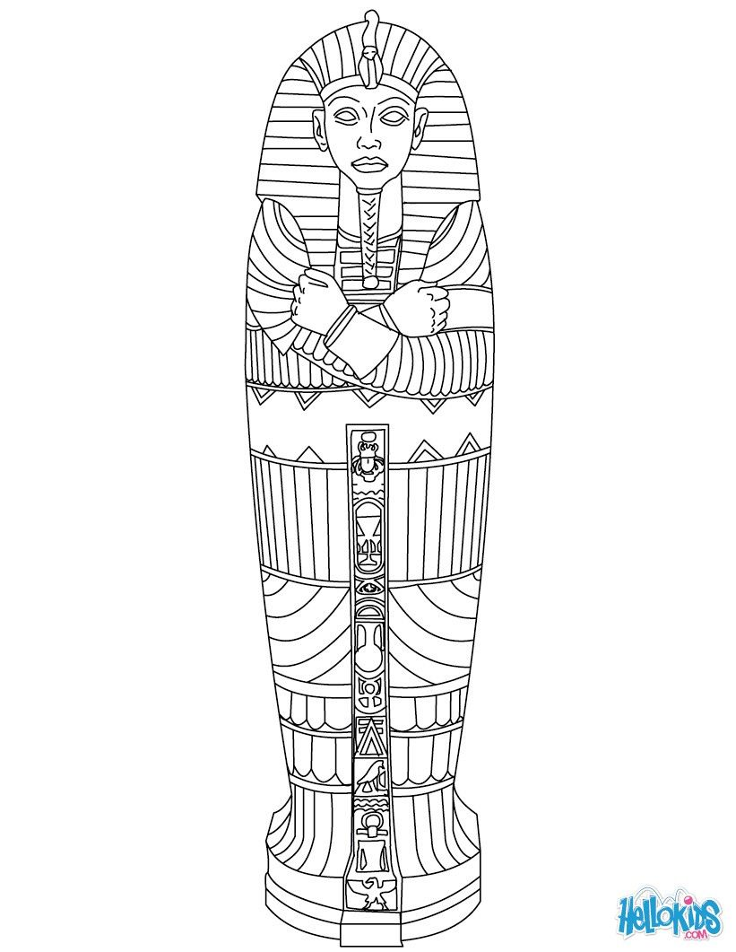 EGYPTIAN SARCOPHAGUS coloring page | King Tut | Pinterest | Egipto ...