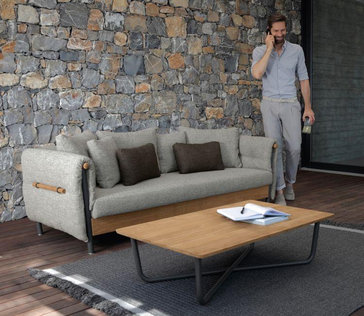 loungemoebel garten kaffeetisch teppich sofa Terrasse Pinterest