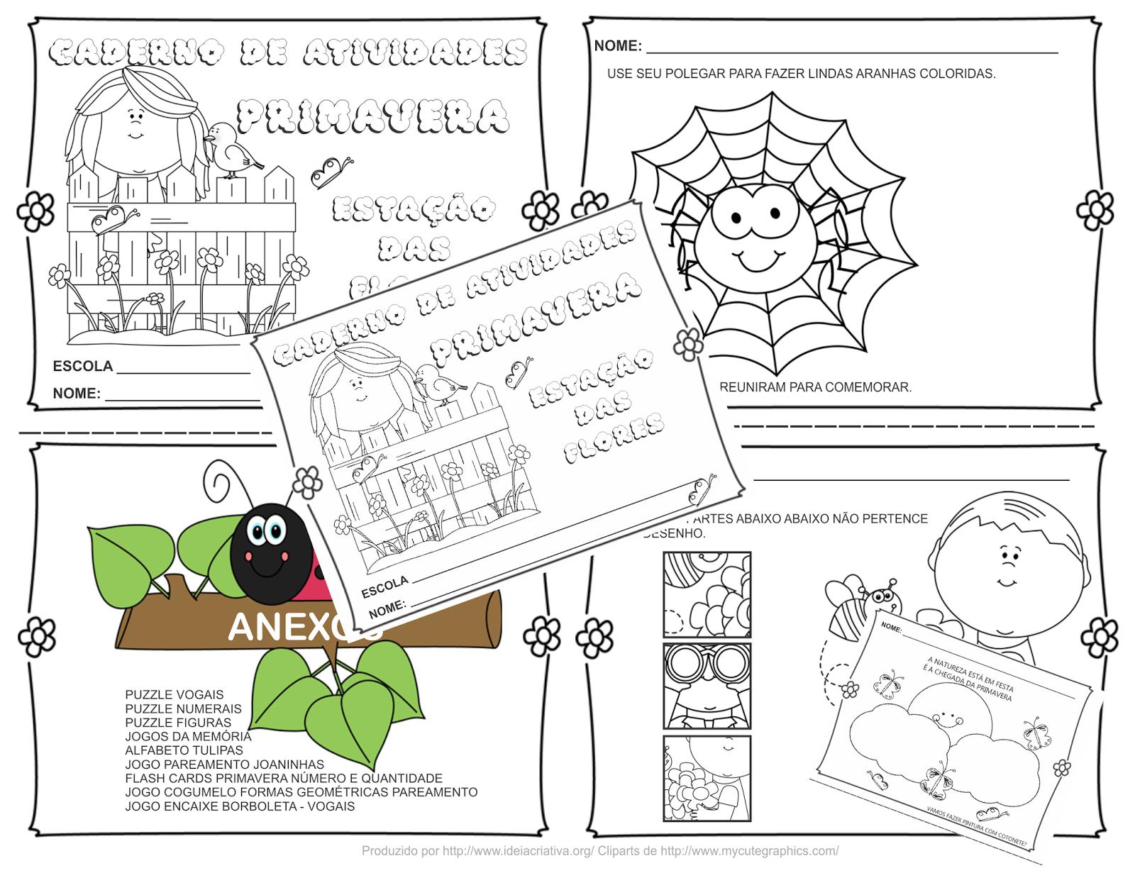 Populares Caderno de atividades dentro da temática Primavera, a estação das  SP56