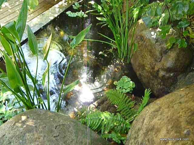 Faux rocher pour bassin aquatique 4 - photo du bassin final bassin ...