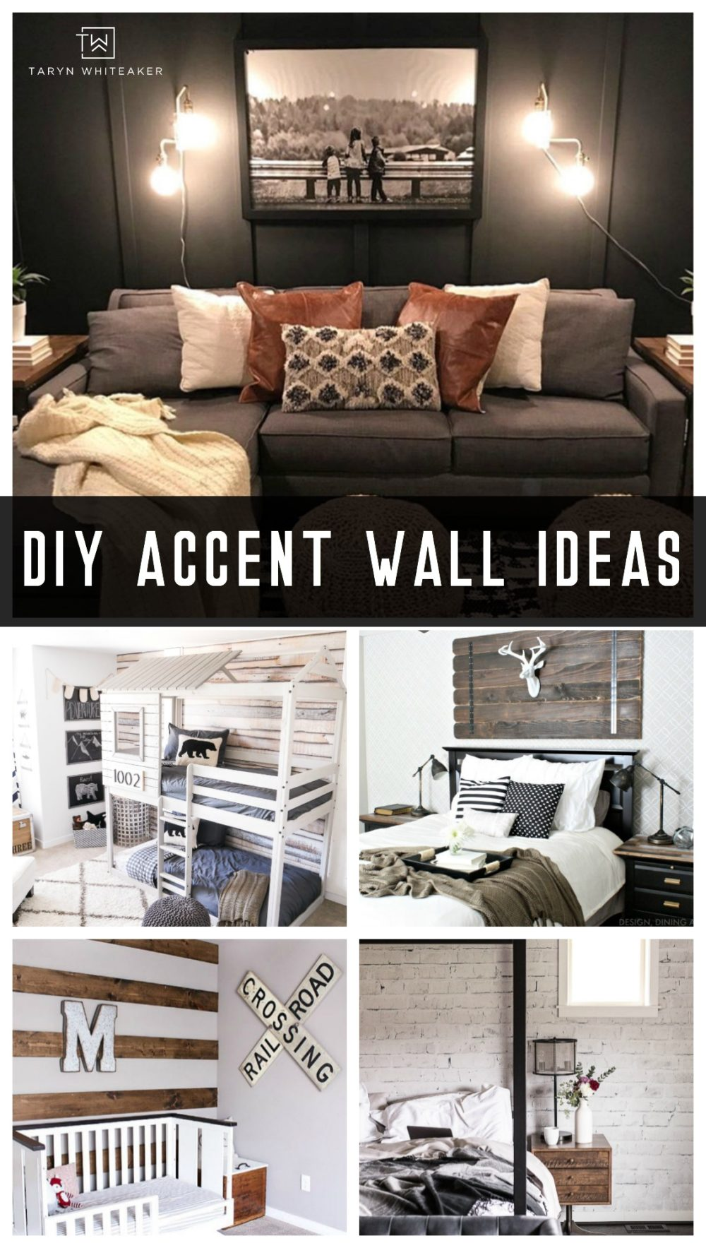 diy accent wall ideas taryn whiteaker in 2020 diy on accent wall ideas id=97440