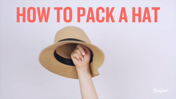 e80322905 The Definitive Way to Pack a Floppy Hat [Video] | Fashion | Packing ...
