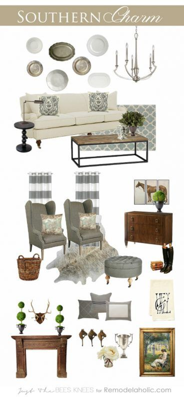 20 Blue Living Room Design Ideas: Southern Charm ~ Decorating Inspired By The South