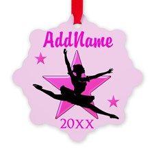 DANCER GIRL Snowflake Ornament http://www.cafepress.com/sportsstar/10423569 #Dancer #Dancergifts #Ballet #Ballerina  #Personalizeddancer