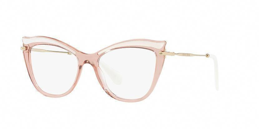 a69d9319681d Miu Miu MU 06PV VH01O1 Transparent Pink Glasses