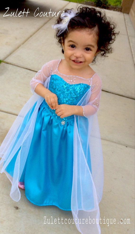 Elsas Dress Size Between 2t Mos To Size 5 Elsa Costume