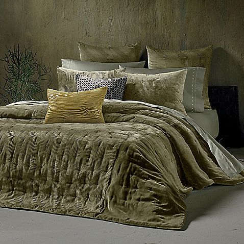 Plush Olive Green Bedding Bedrooms Bed